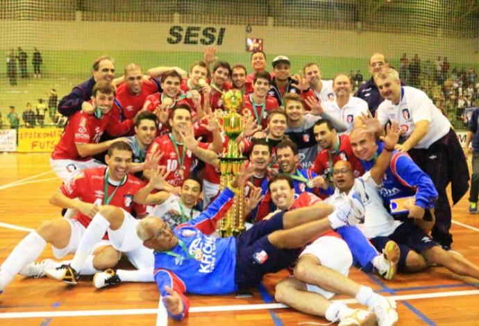 Joinville campeão catarinense 2014 (Foto: Beto Costa/Divulgação)