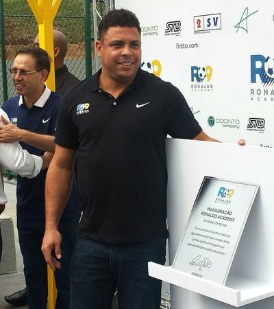Ronaldo Fenômeno Evento Campinas Escolinha de Futebol (Foto: Heitor Esmeriz)