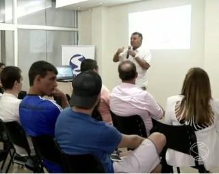 Reunião em Volta Redonda discutiu o regulamento da 24ª Copa Rio Sul de Futsal (Foto: RJTV 1ª Edição)