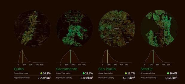 MIT cria plataforma que mapeia área verde das grandes cidades (Foto: Divulgação)