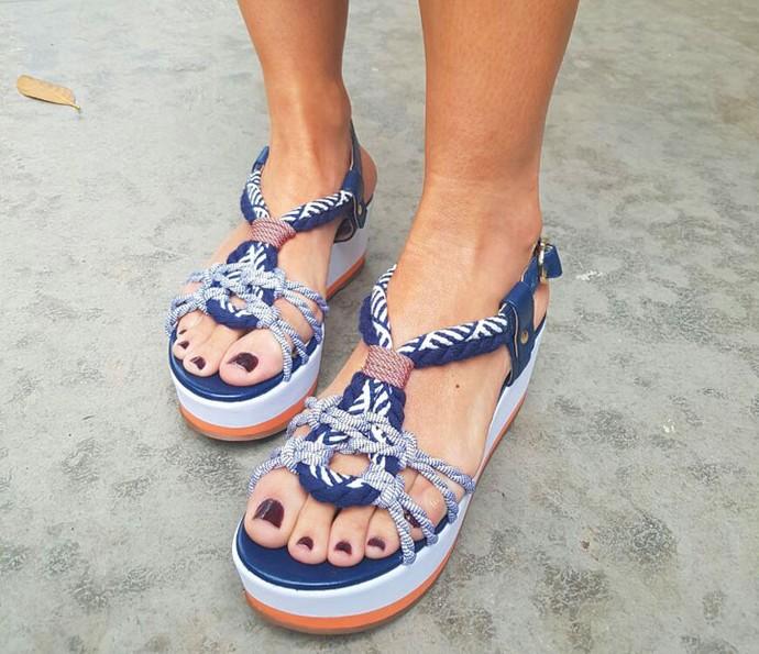 Sandália totalmente verão. Aposte! (Foto: Shaulla Rodrigues/Gshow)