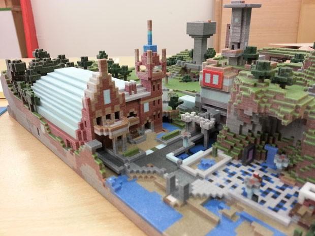 Impressora 3D dá vida às criações dentro do game 'Minecraft' (Foto: Divulgação/Mr Eric Haines/Mineways)