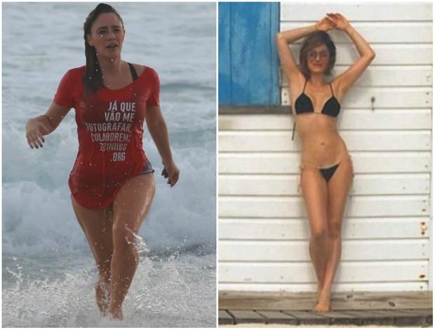 Fernanda Vasconcellos antes e depois da dieta (Foto: Dilson Silva/Agnews/Instagram)