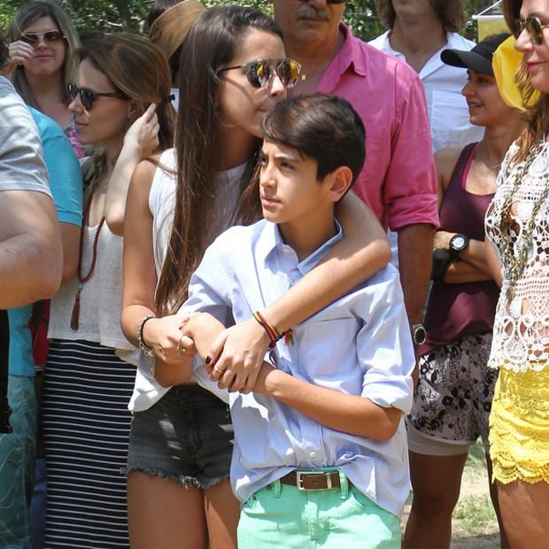 Ana e Bento Pires de Morais, filhos mais novos de Gloria e Orlando (Foto: Anderson Borde/AgNews)