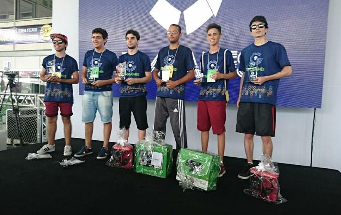 Finalistas do TEM GAMES 2017 em Itapetininga (Foto: Francine Galdino/G1)