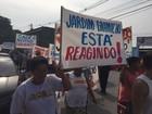Moradores fazem protesto em Gramacho (Jorge Soares/ G1)