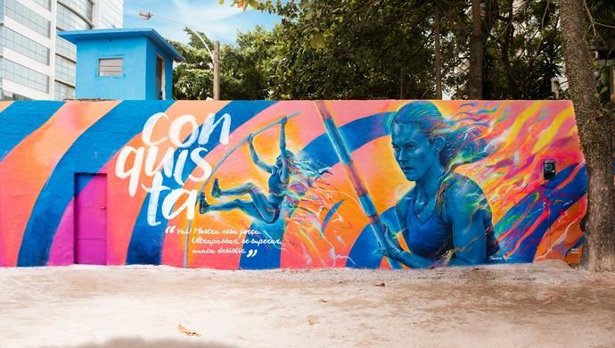 Fabiana Murer atletismo grafite Rio 2016 (Foto: Divulgação)