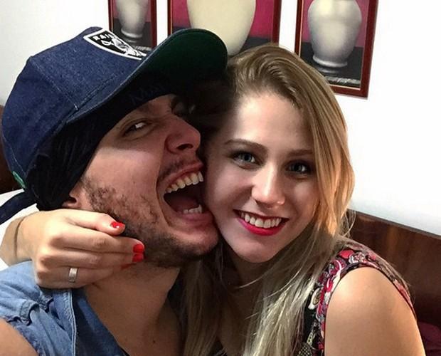 Bruno Boncini se diverte com a namorada (Foto: Arquivo Pessoal)