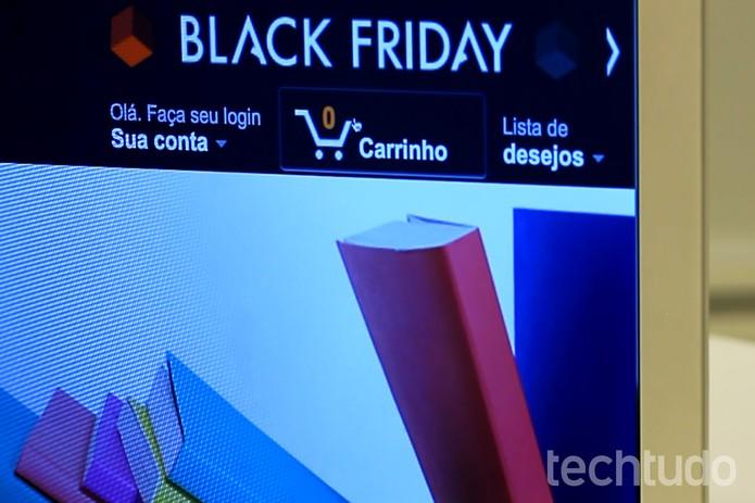 Carrinho de compras Amazon - Black Friday (Foto: Luana Marfim/TechTudo)