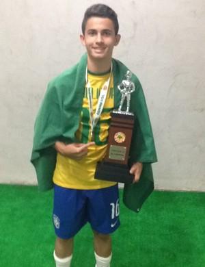 Rondoniense que joga pelo Atlético Mineiro é convocado para Seleção Brasileira sub-17 (Foto: Hélio Júnior/ arquivo pessoal)