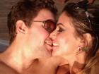 Ex-bailarina do Faustão tem fim de semana romântico no Rio