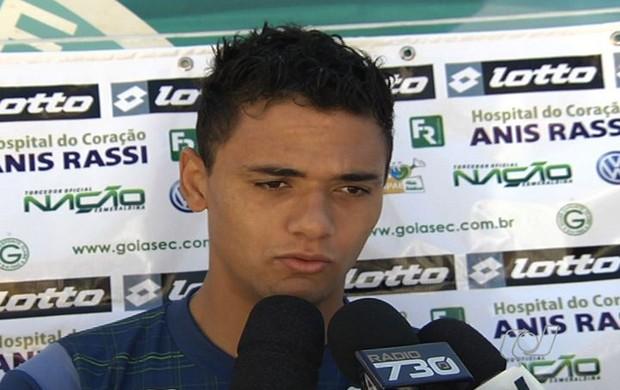 Valmir Lucas, zagueiro do Goiás (Foto: Reprodução/TV Anhanguera)