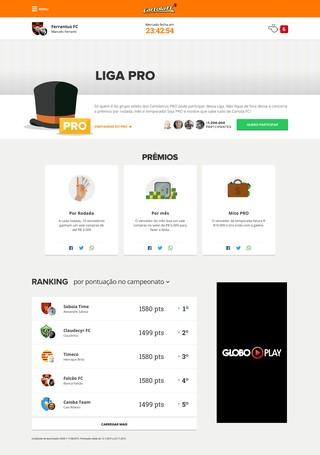 Cartola PRO Liga (Foto: globoesporte.com)