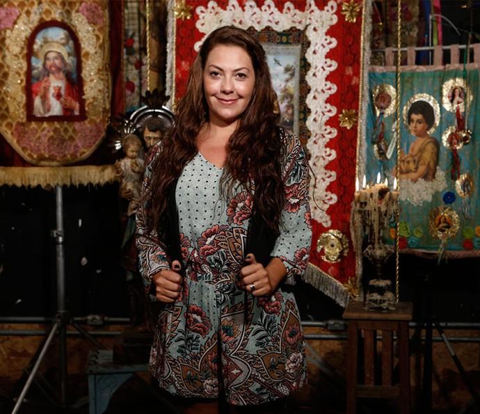 A atriz conta detalhes da preparação que teve antes de começar a gravar (Foto: Inácio Moraes/ Gshow)