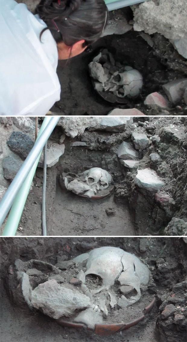 Crânio é de um homem jovem (Foto: Divulgação/Inah)