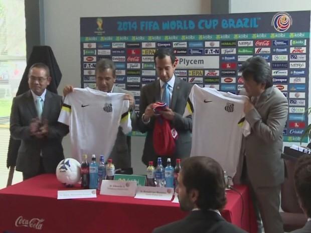 Sadao Nakai e Paulo Alexandre Barbosa estiveram no comitê (Foto: Reprodução / TV Tribuna)