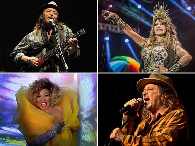 Alcione, Elba Ramalho, Geraldo Azevedo e Alceu Valença serão alguns dos artistas que participarão das apresentações (Foto: Divulgação/Assessorias)