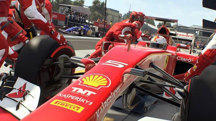 F1 2015 traz veículos bem detalhados (Foto: Divulgação/Codemasters)