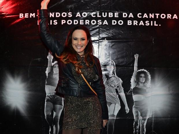 Núbia Ólliver em boate em São Paulo (Foto: Caio Duran/ Ag. News)