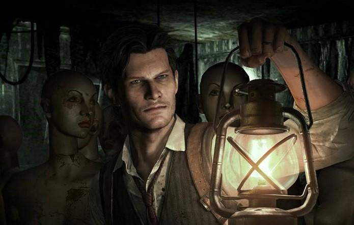 The Evil Within: Boa parte da iluminação vem da lanterna de Castellanos, criando um clima de medo. (Foto: Divulgação)