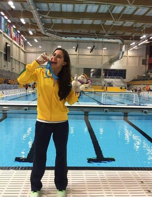Lu Barroncas foi medalhista de bronze com a seleção no Pan de Toronto (Foto: Divulgação/Arquivo Pessoal)