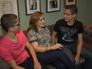 Gêmeos Mateus e Felipe foram aprovados nos vestibulares do ITA e do IME (Foto: Reprodução/ TV Verdes Mares)