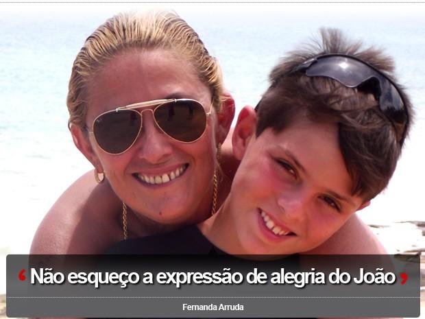 Fernanda Arruda e o filho João Vítor (Foto: Arquivo Pessoal / Fernanda Arruda)