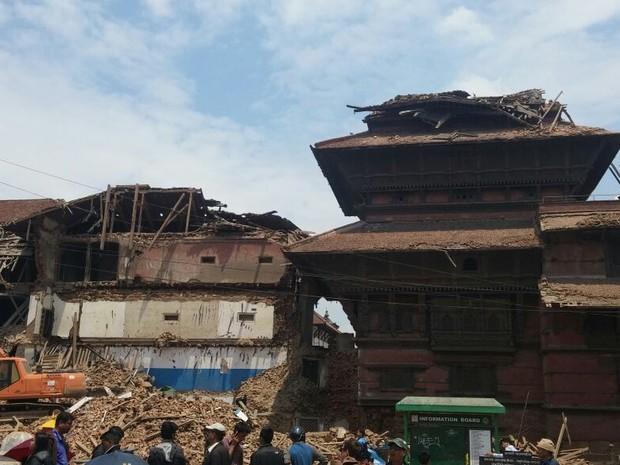 Empresário capixaba registrou destruição causada pelo terremoto no Nepal (Foto: Marcelo Gama/ Arquivo Pessoal)