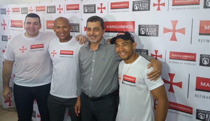 Pedro Rizzo, Ronaldo Jacaré e José Aldo (Foto: Alexandre Fernandes)