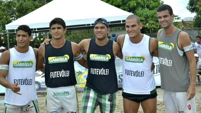Thiago e Romário futevôlei al (Foto: Thiago Melo)