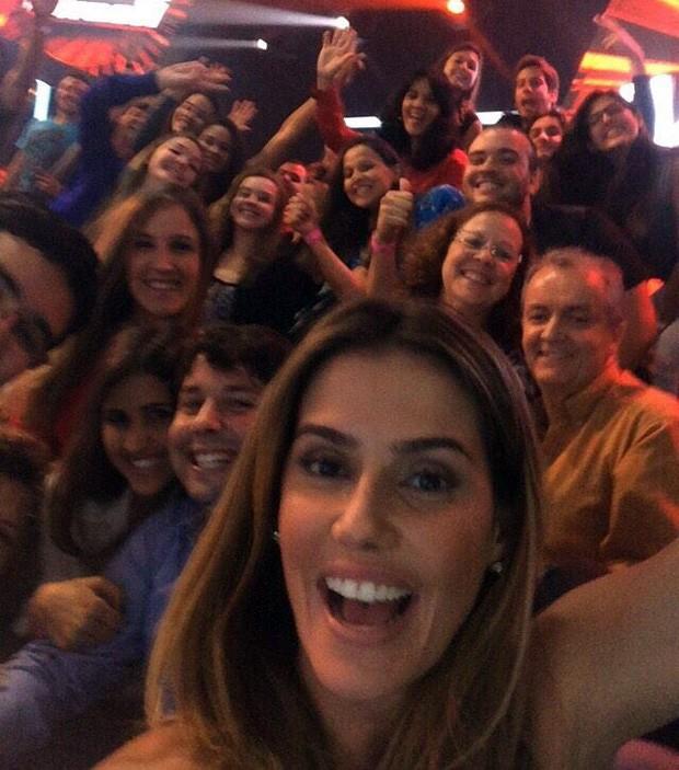 Debora Secco faz um clique da plateia do reality (Foto: Arquivo Pessoal)