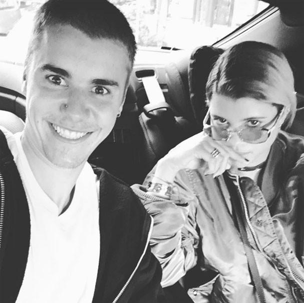 Justin Bieber e Sofia Richie (Foto: Reprodução/Instagram)