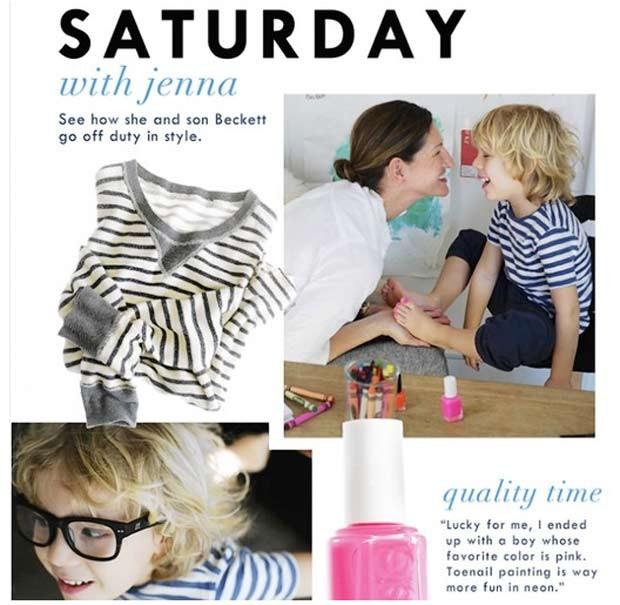 Rede de lojas  J. Crew publicou anúncio em que um menino aparece com as unhas pintadas de rosa. (Foto: Reprodução)