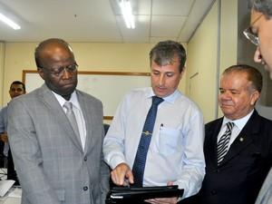 Joaquim Barbosa criticou sistema penitenciário potiguar (Foto: TJRN/Divulgação)