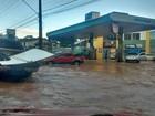Chuva provoca alagamento na rodovia MA-201, no Maranhão