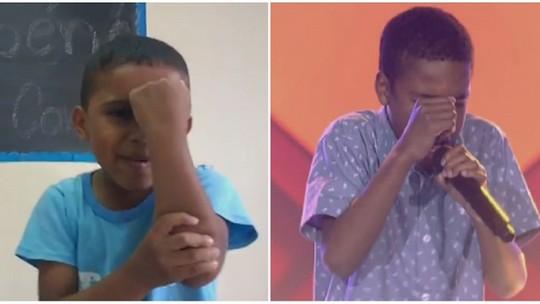 Torcida especial: Juan Carlos, do 'The Voice Kids', ganha homenagem de crianças de ONG