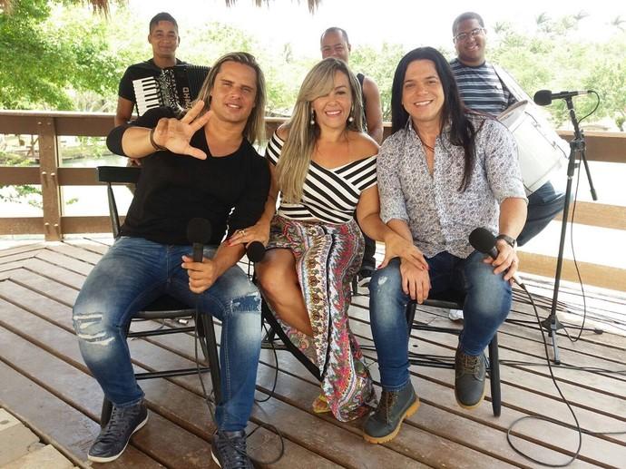 Nova formação da banda Calcinha Preta (Foto: Anderson Barbosa)