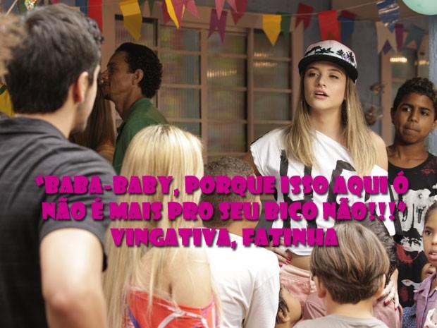 Baba, baby! Fatinha vê que Bruno tá na dela e dá uma bela esnobada no gato  (Foto: Malhação / Tv Globo)
