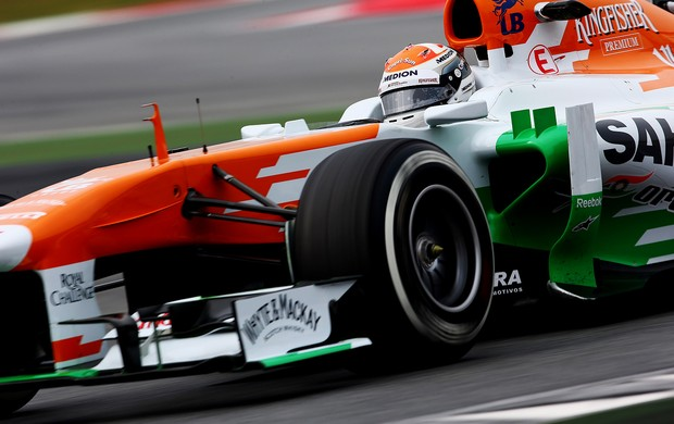 Adrian Sutil Force India testes Barcelona (Foto: Agência Getty Images)