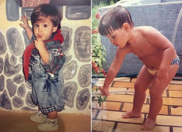 Álbum de família: Bruno Guedes conta que foi um garoto tímido (Foto: Arquivo pessoal)