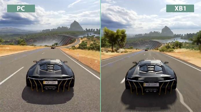 Vídeo compara gráficos de Forza Horizon 3 no Xbox One e no PC com Windows 10 (Foto: Reprodução/YouTube)