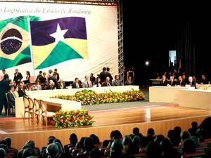 'Quem errar não fica no meu governo', garante Confúcio Moura, em posse (Foto: Decom/Divulgação)