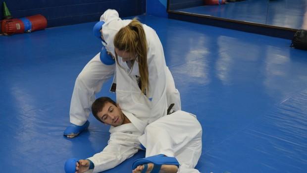 Karateca piracicabana Natalia Brozulatto está na seleção brasileira há cinco anos (Foto: Bernardo Medeiros / Globoesporte.com)