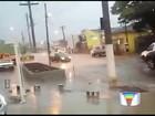 Chuva atinge prédio da Câmara e alaga ruas em Atibaia, SP