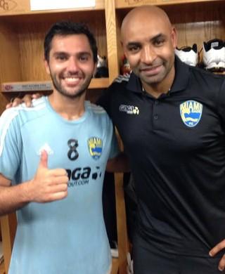 Rodrigo Siqueira e Emerson Miami Dade (Foto: Miami Dade FC / Divulgação)