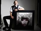 Artista santista usa técnica diferente para recriar rostos de artistas famosos