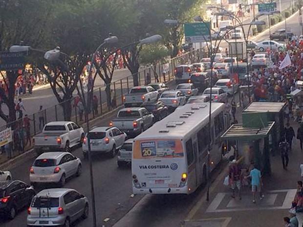 Segundo organizadores, haverá passeata pela avenida Sen. Salgado Filho, em Natal (Foto: Renato Vasconcelos/G1)