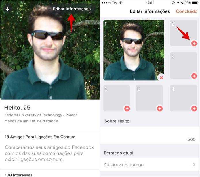Edite o seu perfil do Tinder (Foto: Reprodução/Helito Bijora)