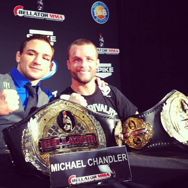 Pat Curran e Michael Chandler Bellator 85 (Foto: Reprodução/Facebook)