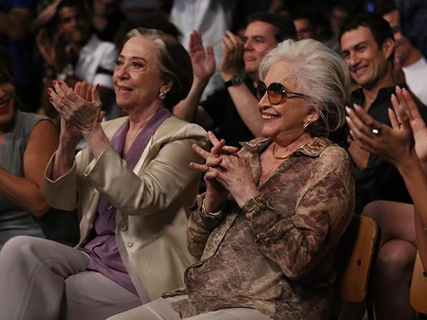 Fernanda Montenegro e Nathalia Timberg vão viver um casal na trama (Foto: Raphael Dias / Gshow)